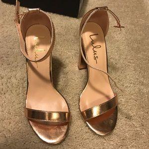 Lulu's Taylor Rose gold heel size 5.5